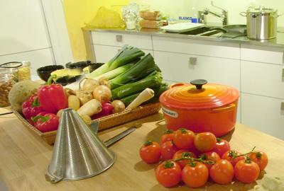 Kombucha Gemüsesuppe mit Ingwer