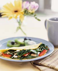 Mini Tuna Omelettes with Stir-fried Vegetables