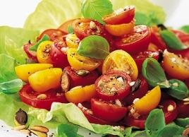 Tomato Salad with Garlic Vinaigrette