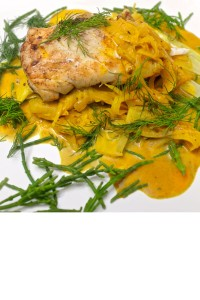 Bacalau con verduras en curry