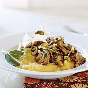 Soft Polenta with Wild Mushroom Sauté