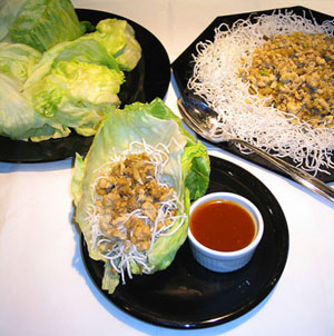 Asian Chicken and Beef Lettuce Wraps