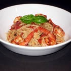 Shrimp in Tomato Sauce over Pasta