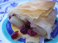 Low Fat Cranberry Pear Strudel