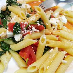 Tomato and White Bean Greek Pasta
