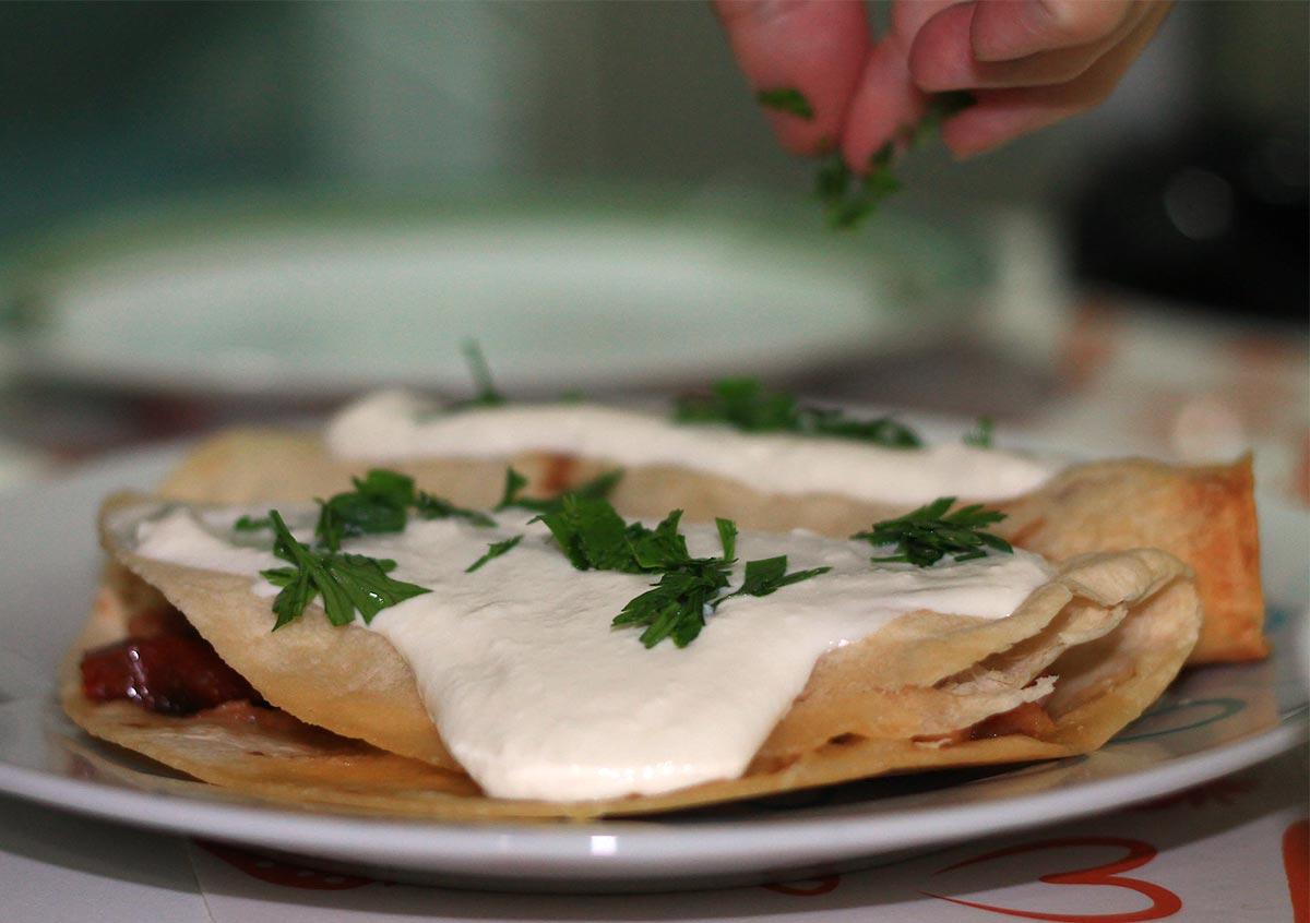 Gefüllte Tortillas