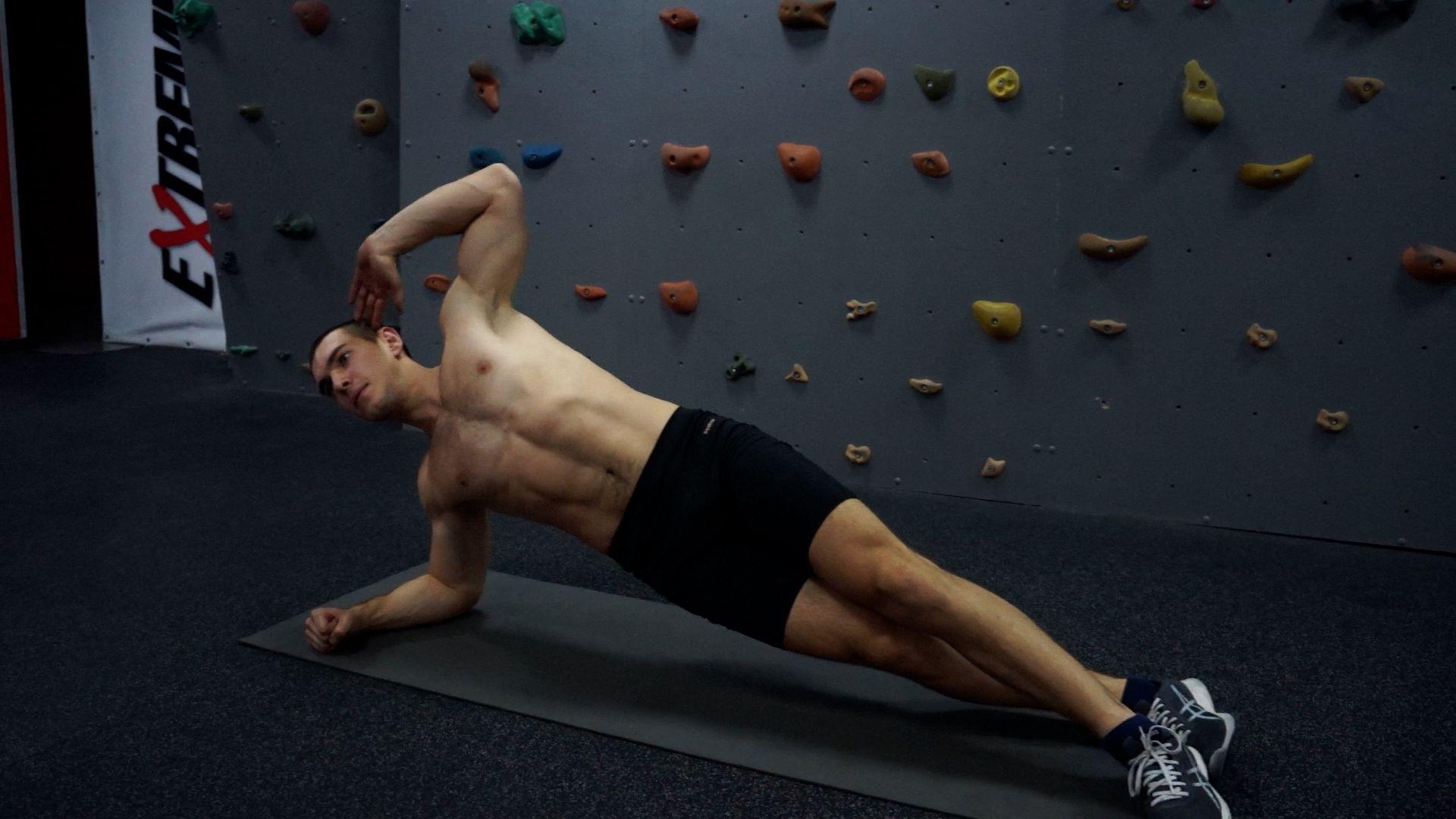 Modified Side Plank Twists