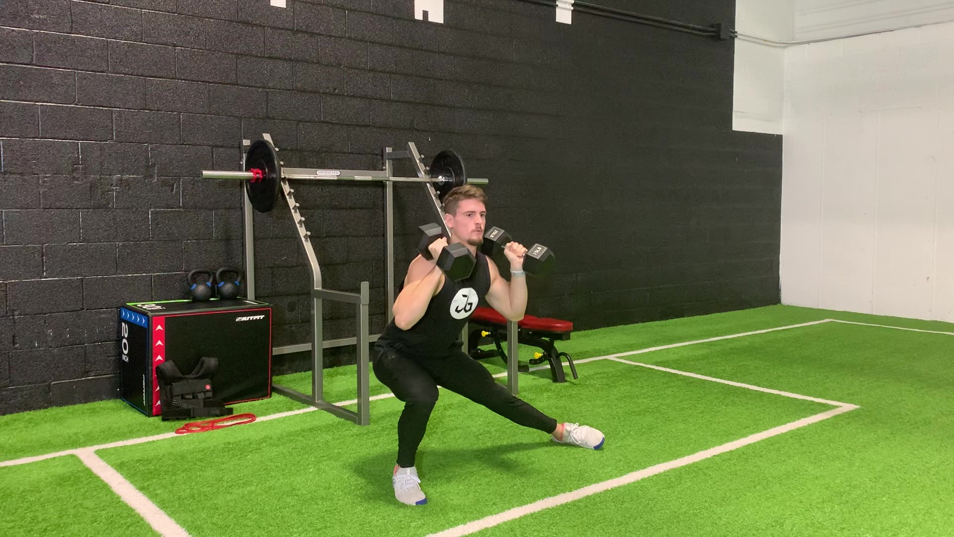 DB Side Lunge to Press