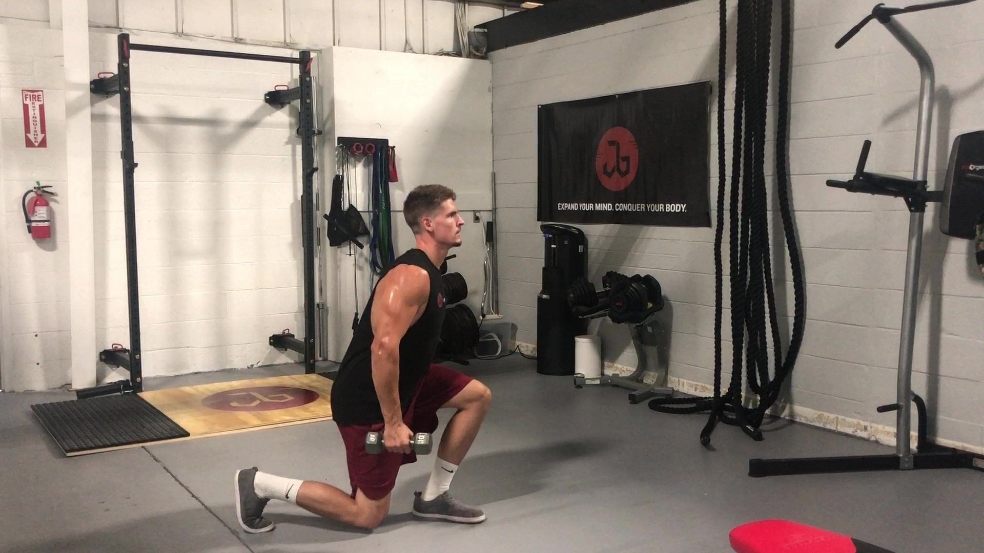DB Split Squat Jumps