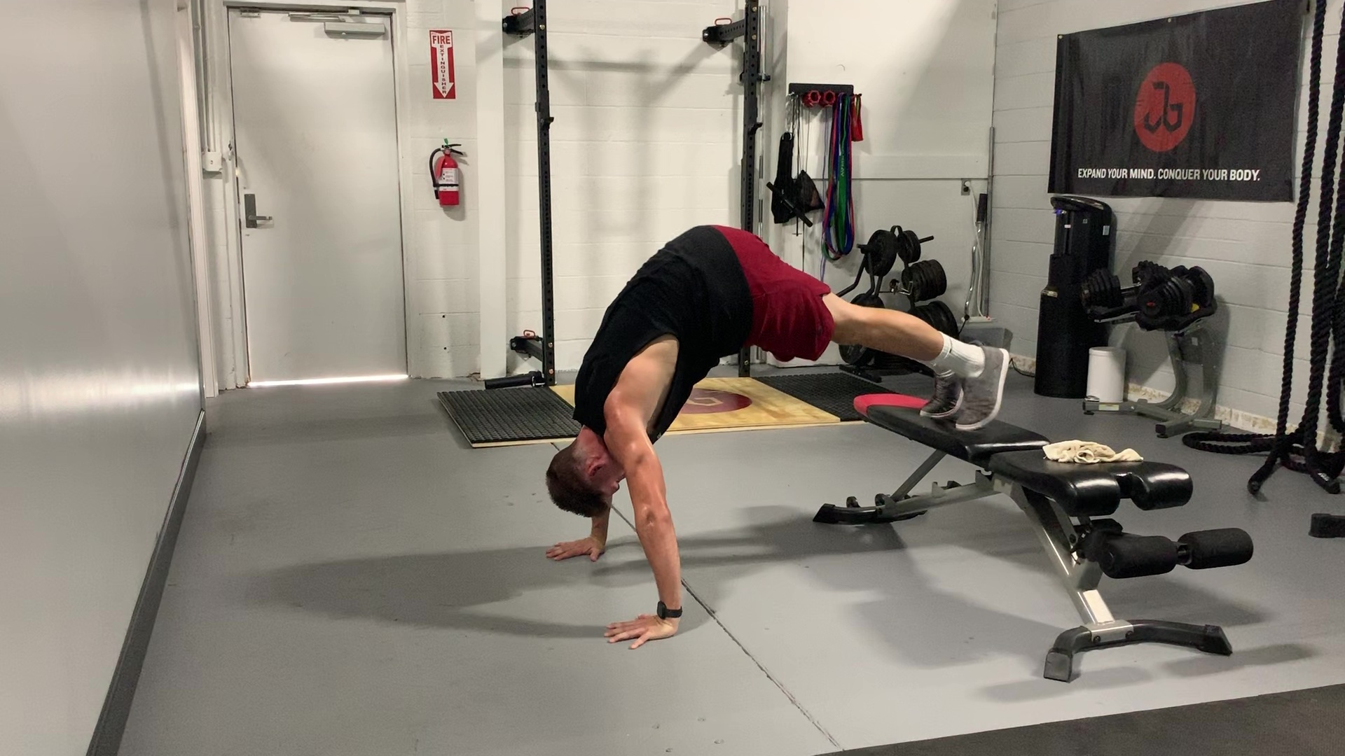 Elevated Pike Push-up