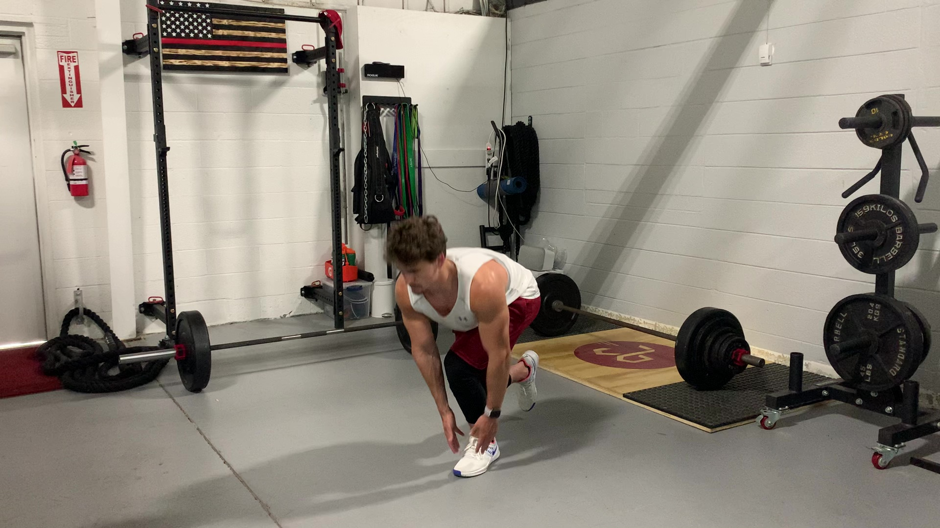 SL Squat with Heel Touch