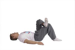 Estiramiento de glúteos rodilla-tobillo