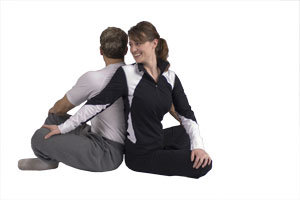 Partnerdehnung für den  Rücken