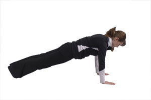 Hip Extensions in Plank