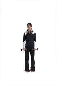 Exercice pour les avant-bras avec haltère court