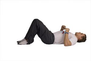 Bauchübung boxen für seitliche Bauchmuskulatur