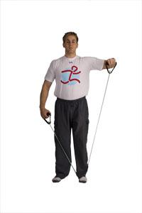 Schulter- und Arm- Rotation und Tube