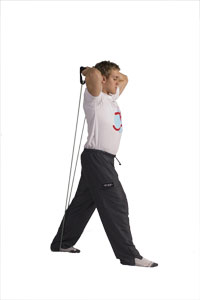 Overhead Triceps Extension with Band