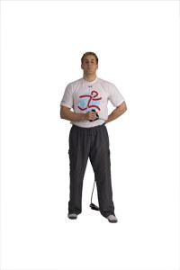 Schulterübung für die Rotatorenmaschette mit dem Tube