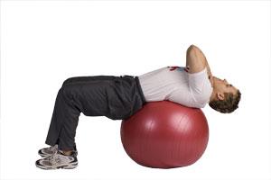 Crunch ventre avec ballon