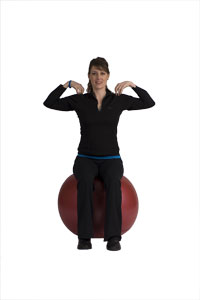 Torso Twist on Exercise Ball