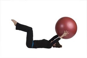 Pase triangular con la bola grande