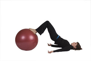 Hamstring Curls with Exercise Ball (Beginner)