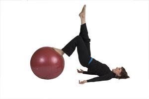 Hamstring Curls (Single Leg) with Exercise Ball (Beginner)
