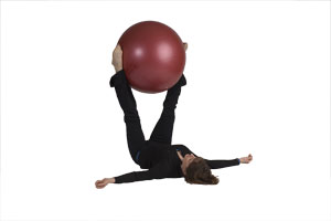 Extended Leg Twists with Exercise Ball