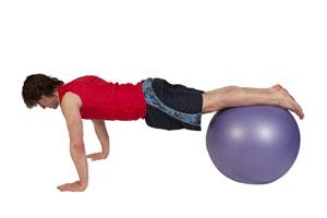 Felxiones avanzadas en bola de ejercicio