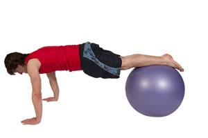 Beidbeinig auf dem Gymnastikball