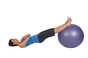 Encogimiento de isquiotibiales con bola ejercicio ( avanzado