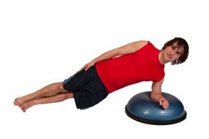 Side Plank on BOSU (on elbow)