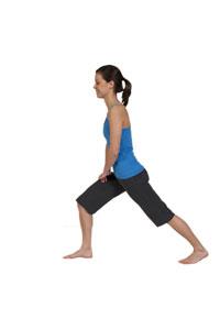 Estiramiento de flexor de cadera ( posición de estocada)