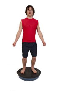 Squats on Upside-Down BOSU