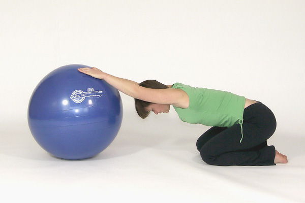 Upper Body & Back Stretch with Exercise Ball