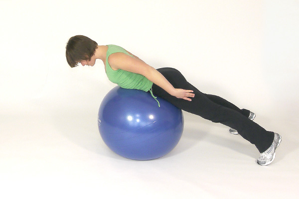 Over the Exercise Ball Shoulder Raises
