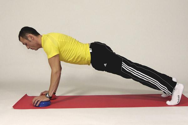 Push Ups on the Pilates Ball