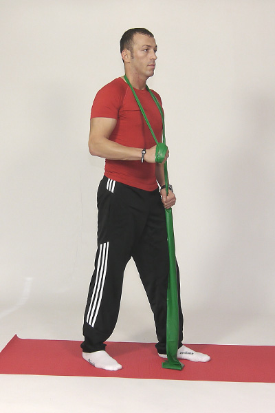 Triceps Pressdown with Exercise Band