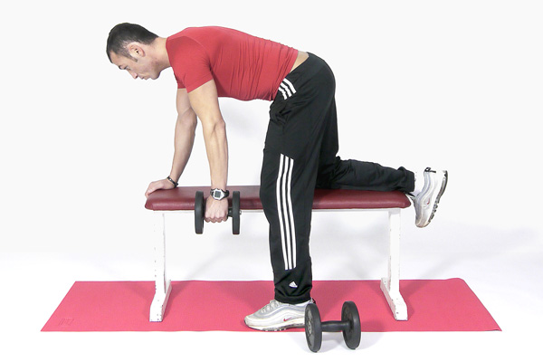 Dumbbell Single Arm Rowing