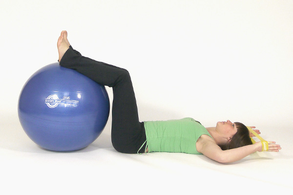 Abdominal Crunch with Exercise Ball