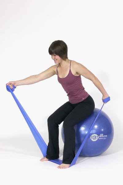 Levantamiento alterno de espalda trasera y frontal sentado
