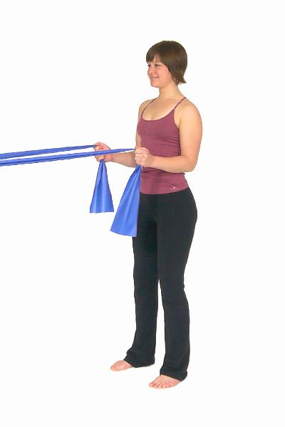 Prensa de triceps con banda de ejercicio