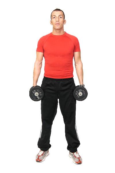 Flexión lateral de tronco con peso libre