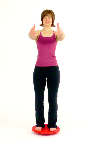 Upper Body Rotation Standing on the Balance Board