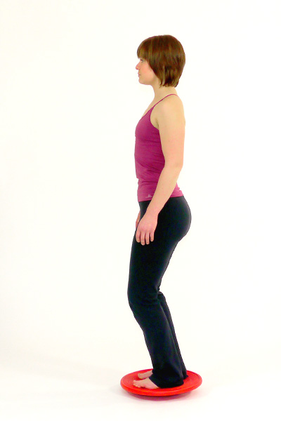 Squats auf dem Balanceboard