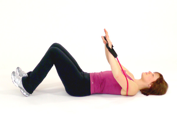 Oblique Abdominal Crunches with the Exercise Tube