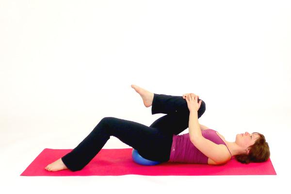 Hip Flexor Stretch with the Pilates Ball