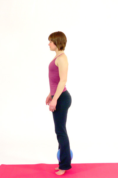 Squats with the Pilates Ball