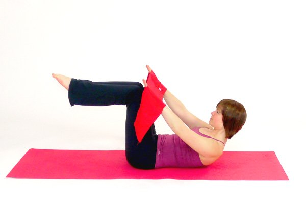 Single Leg Stretch with the Pilates Band